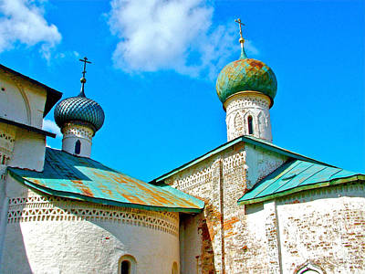 Onion Domes Digital Art - Onion Domes Of Kirillo-belozersk Monastery In Goritsy-russia by Ruth Hager