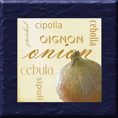 Translate Digital Art - Onion by Marti Snider