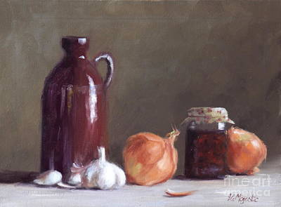 Onions And Sundried Tomatoes Art Print