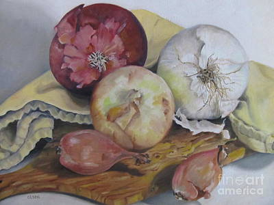 Painting - Onions by Karen Olson