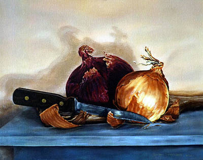 Painting - Onions by Linda Becker