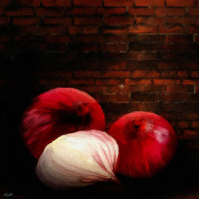 Garlic Digital Art - Onions by Lourry Legarde