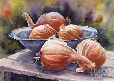 Spring Bulbs Painting - Onions by Mohamed Hirji