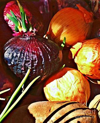 Photograph - Onions by Sarah Loft