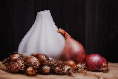 Onion Photograph - Onions by Tom Mc Nemar