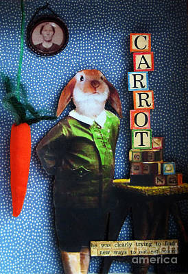 Only Carrots   Art Print by Linda Apple