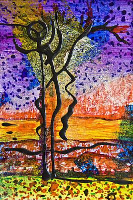 Vivid Colour Painting - Only Chaos To Climb by Alexandra Jordankova