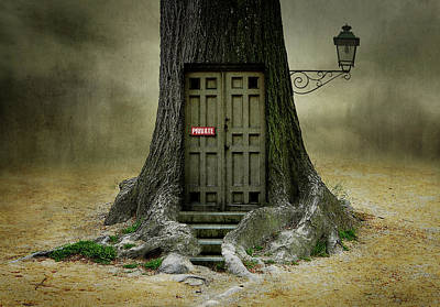 Surreal Photograph - Only Opens, If You Are Open For Fantasy. by Ben Goossens