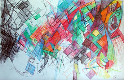Creativity Drawing - only through the blessing of Hashem Yisborach 1 by David Baruch Wolk