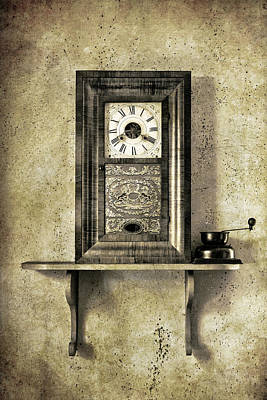 Old Grandfather Time Photograph - Only Time Will Tell by Jeff Burton