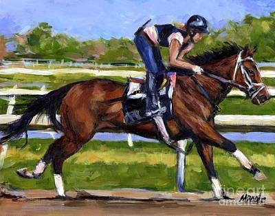 Racetrack Painting - Onlyforyou by Molly Poole