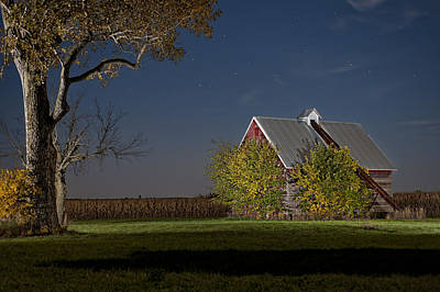 Corn Crib Photograph - Onset Of Fall by Tom Phelan