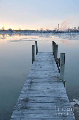 Photograph - Ont The Dock At Sunrise by Randy J Heath