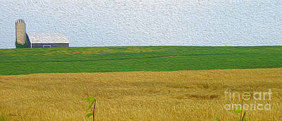 Photograph - Ontario Farm In Landscape Mode by Nina Silver