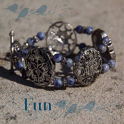 Jewelry Photograph - #ontheblogtoday What A Fun Bracelet! by Teresa Mucha
