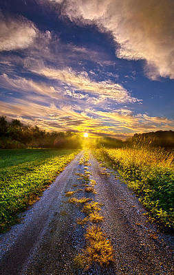 Dirt Roads Photograph - Onward The Traveler Goes by Phil Koch