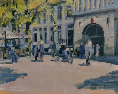 Maastricht Painting - Onze Lieve Vrouwe Plein Maastricht by Nop Briex