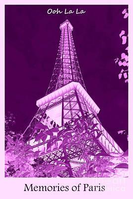 Ooh La La Memories Of Paris Art Print by Carol Groenen