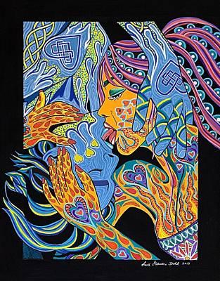 Raunchy Painting - Ooo La La by Lisa Frances Judd