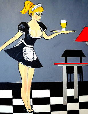 Art Print featuring the painting Ooolala French Maid  by Nora Shepley