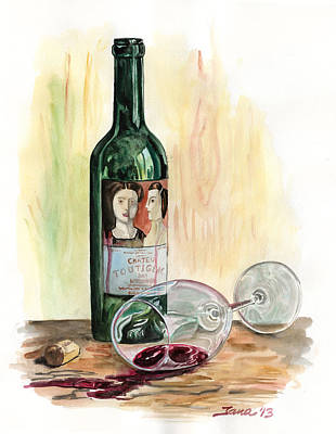 Wine-glass Painting - Oops by Jana Goode