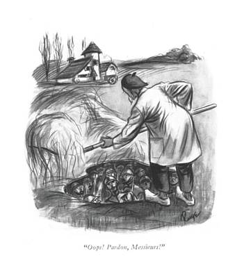 Oops! Pardon Art Print by John Ruge