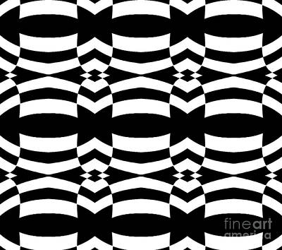 Op Art Black White Pattern No.139  Art Print by Drinka Mercep