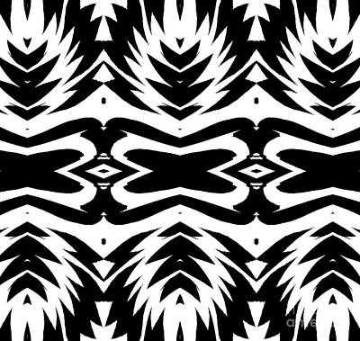 Pattern Black White No.232. Art Print by Drinka Mercep