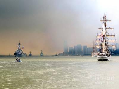 Photograph - Op Sail- Fleet Week New York City by Ed Weidman