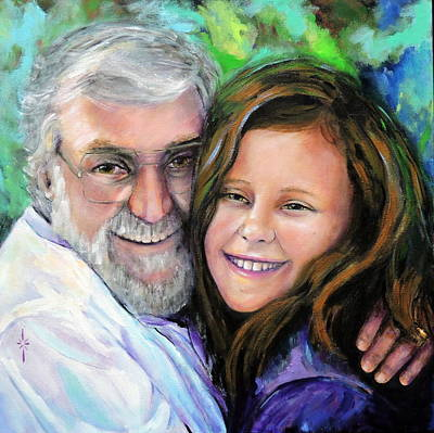 Painting - Opa And Olivia by Jodie Marie Anne Richardson Traugott          aka jm-ART