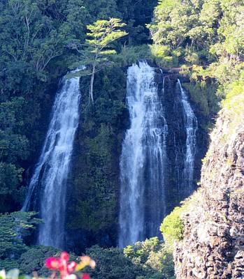 Photograph - Opaeka'a Falls by Alohi Fujimoto