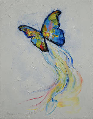 Opal Butterfly Art Print by Michael Creese