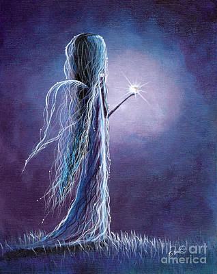 Night Angel Painting - Opal Fairy By Shawna Erback by Shawna Erback