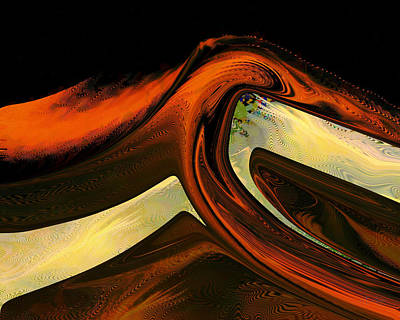 Digital Art - Opal Fire Mountain by rd Erickson