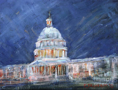 Capitol Building Painting - Opalescent Dome by Elizabeth Roskam