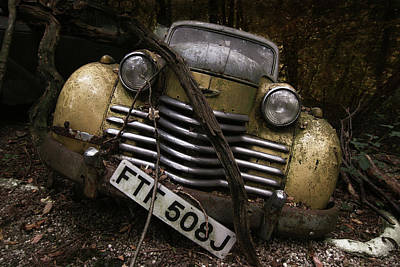 Rusty Cars Wall Art - Photograph - Opel Olympia by Holger Droste