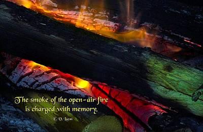 Open Air Fires Art Print by Mike Flynn