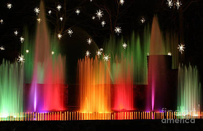 Photograph - Open Air Theatre Rainbow Fountain by Living Color Photography Lorraine Lynch