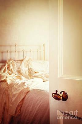 Sunlit Door Photograph - Open Bedroom Door by Amanda Elwell
