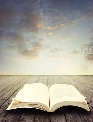 Bible Photograph - Open Book by Les Cunliffe