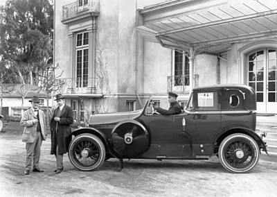 Open Cab Limousine Print by Underwood Archives