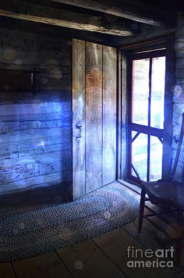 Open Cabin Door With Orbs Art Print by Jill Battaglia