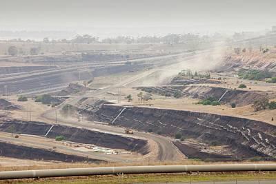 Carbon Dioxide Photograph - Open Cast Coal Mine by Ashley Cooper