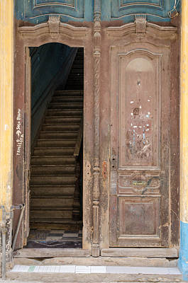 Photograph - Open Door Havana Street Scene by Rob Huntley