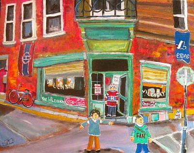 Hockey Fans Painting - Open Door Wilensky by Michael Litvack