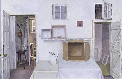 Ewer Photograph - Open Doors - Framed Objects - Albers, 2004 Oil On Canvas by Charles E. Hardaker