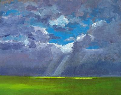 Glorious Painting - Open Field Majestic by Patricia Awapara