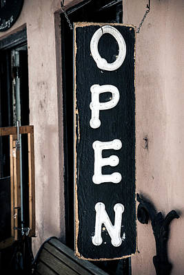 Art Print featuring the photograph Open For Business by Sennie Pierson