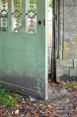 Painted Garden Gate Photograph - Open Garden Gate by Jill Battaglia