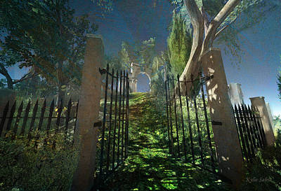 Digital Art - Open Gate Beckons by Kylie Sabra